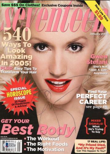 No Doubt Gwen Stefani Signed Authentic Autograph Magazine  Beckett Bas Coa