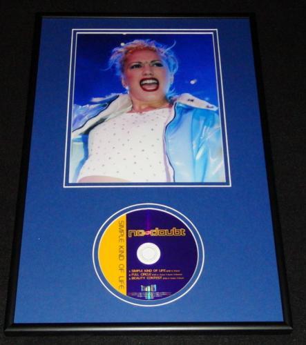 No Doubt Simple Kind of Life Framed 12x18 CD & Photo Display Gwen Stefani