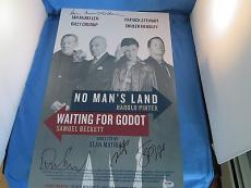 No Man Land Waiting For Godot Signed Poster Ian McKellen Patrick Stewart PSA DNA