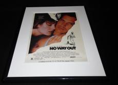 No Way Out 1987 Framed 11x14 ORIGINAL Vintage Advertisement Kevin Costner