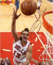 "Joakim Noah Chicago Bulls Autographed 8"" x 10"" Hook Shot Photograph"