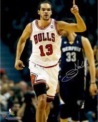 "Joakim Noah Chicago Bulls Autographed 16"" x 20"" Raising Finger Photograph"