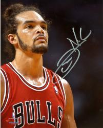 "Joakim Noah Chicago Bulls Autographed 8"" x 10"" Up Close Photograph"