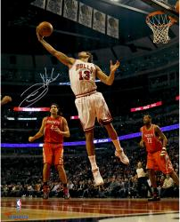 """Joakim Noah Chicago Bulls Autographed 16"""" x 20"""" White Uniform Rebound Photograph"""