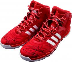 Joakim Noah Chicago Bulls Autographed Game-Used 2013-14 Adidas Shoes