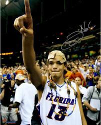 "Joakim Noah Florida Gators Autographed 16"" x 20"" Championship Hat Photograph"