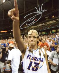 "Joakim Noah Florida Gators Autographed 8"" x 10"" Championship Hat Photograph"