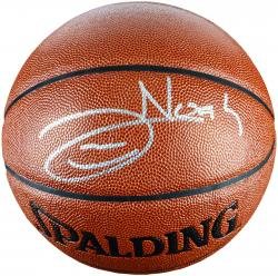 Joakim Noah Chicago Bulls Autographed Spalding Indoor Outdoor Basketball - Mounted Memories