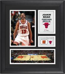 """Joakim Noah Chicago Bulls Framed 15"""" x 17"""" Collage with Team-Used Ball"""