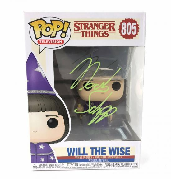 Noah Schnapp Autograph Funko Pop Stranger Things Will the Wise Signed JSA COA