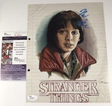 NOAH SCHNAPP signed 8x10 Photo Picture  STRANGER THINGS WILL Netflix JSA