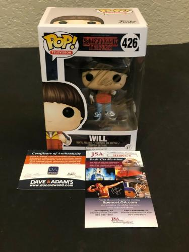 Noah Schnapp Stranger Things Will Byers Rare Signed Autograph Funko POP JSA COA