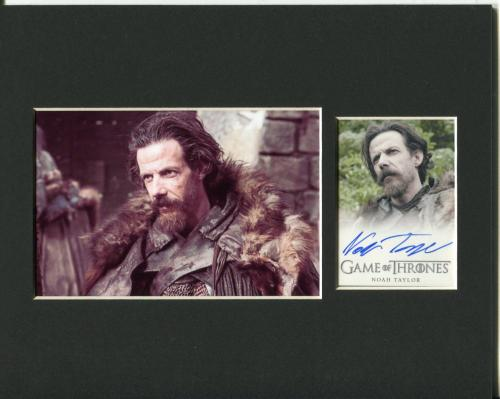 Noah Taylor Game of Thrones Locke Signed Autograph Photo Display