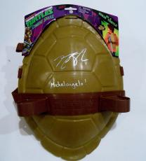 Noel Fisher Signed Michelangelo Toy Shell w/COA Teenage Mutant Ninja Turtles