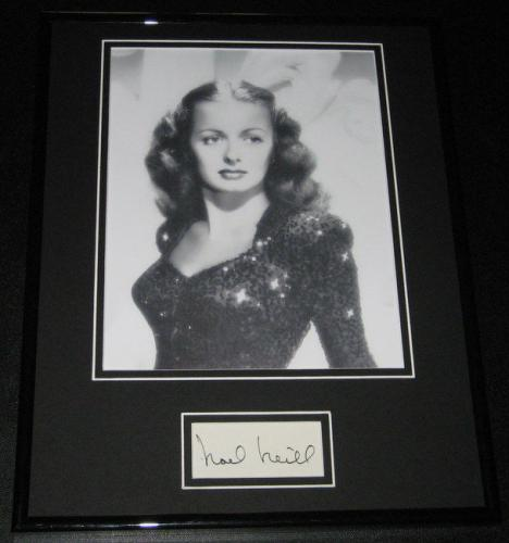 Noel Neill Signed Framed 11x14 Photo Display Superman Lois Lane