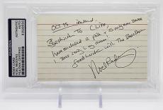 Noel Redding Signed Index Card Jimi Hendrix Experience Psa/dna Encap 83508556