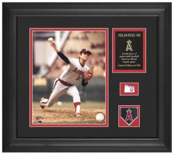 """Nolan Ryan California Angels 8"""" x 10"""" Photograph with Game-Used Baseball Piece & Descriptive Plate - Limited Edition of 500"""