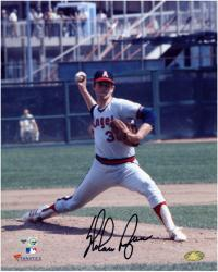 Nolan Ryan California Angels Autographed 8'' x 10'' Releasing Ball Photograph - Mounted Memories