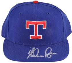 Nolan Ryan Texas Rangers Autographed Hat - Mounted Memories