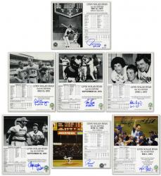 Nolan Ryan Autographed No-Hitter 8'' x 10'' Photograph Collection with Catchers - Mounted Memories