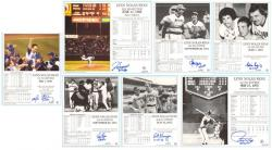 Nolan Ryan's Catchers Autographed No-Hitter Highlight Collection