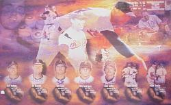 Nolan Ryan 7 No Hitters Commemorative Autographed 32.5'' x  44'' Lithograph Autographed by the 7 Catchers  - Mounted Memories