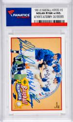 Nolan Ryan New York Mets Autographed 1990 Upper Deck Baseball Heroes #10 Card with 1968 W.S. Champs Inscription