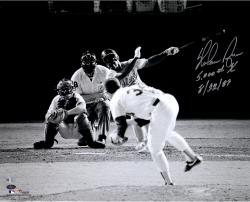 "Nolan Ryan Texas Ragners Autographed 8"" x 10"" Black and White 5000th Strikeout Photograph with 5000th K 8/22/89 Inscription"