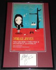 Norah Jones Signed Framed 2008 Poster Display