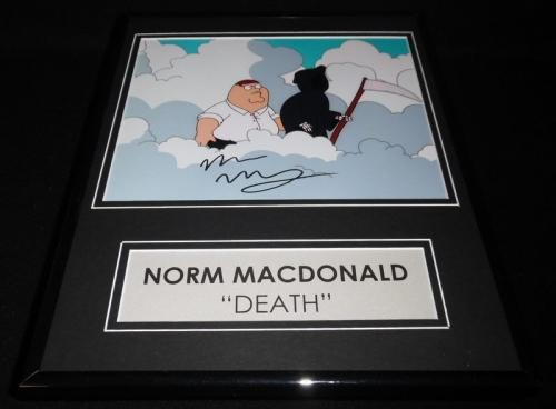 Norm Macdonald Signed Framed 11x14 Photo Display AW Family Guy Death