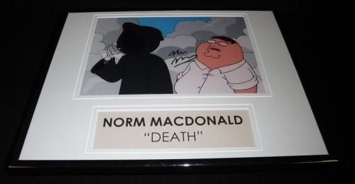 Norm Macdonald Signed Framed 11x14 Photo Display AW Family Guy Voice of Death