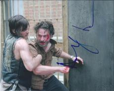 Norman Reedus Andrew Lincoln Dual Signed Autographed 8x10 Photo The Walking Dead