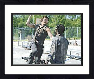 "Norman Reedus Autographed 11"" x 14"" The Walking Dead Punch Photo PSA DNA COA"