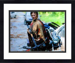 Norman Reedus  Autographed 11X14 Photo The Walking Dead Crossbow JSA CC88577