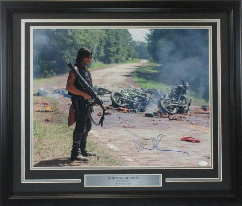 Norman Reedus Autographed 16x20 Walking Dead's Daryl Dixon Carnage photo JSA cert