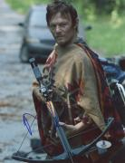 "Norman Reedus Autographed 8"" x 10"" Holding Crossbow Photograph - Beckett COA"