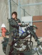 "Norman Reedus Autographed 8"" x 10"" On Motorcycle Photograph - Beckett COA"
