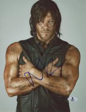"Norman Reedus Autographed 8"" x 10"" Posing Arms CrossedPhotograph - Beckett COA"
