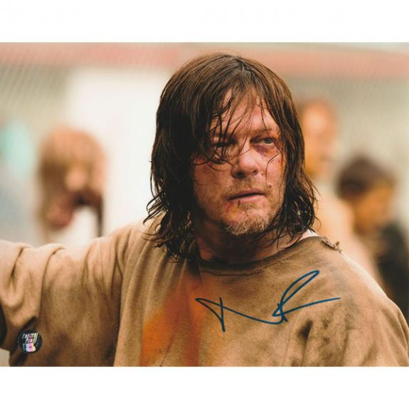Norman Reedus Autographed The Walking Dead 8X10 Photo