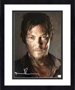 Norman Reedus Autographed Signed  11x14 Photo JSA Authenticated 1 Walking Dead