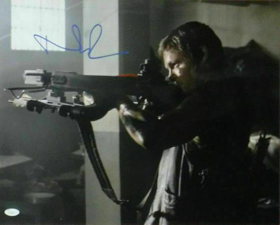 Norman Reedus Autographed The Walking Dead Daryl Dixon 16x20 Photo JSA 16955