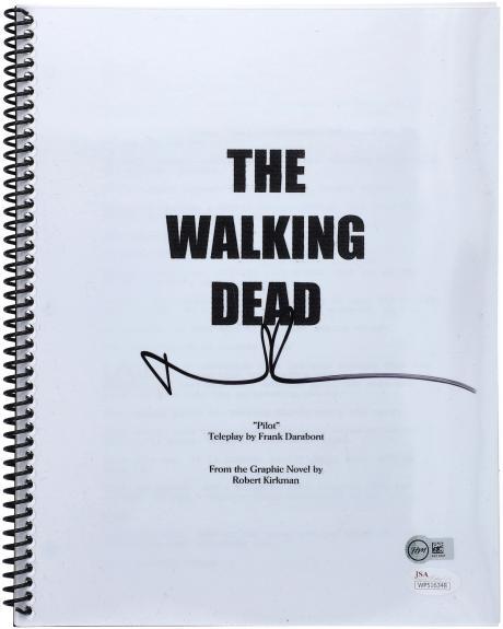 Norman Reedus Autographed The Walking Dead Pilot Episode Replica Script - JSA