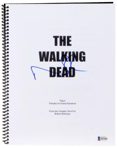 Norman Reedus Autographed The Walking Dead Replica Script - Beckett COA