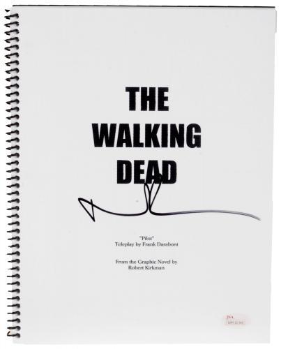 Norman Reedus Autographed The Walking Dead Replica Script - JSA COA