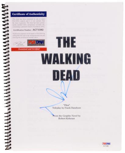 Norman Reedus Autographed The Walking Dead Replica Script - PSA/DNA COA