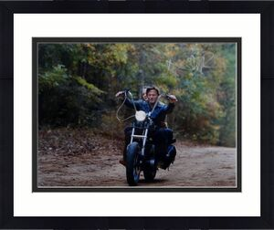 Norman Reedus Autographed Walking Dead 16x20 Motorcycle Photo *R- JSA Auth