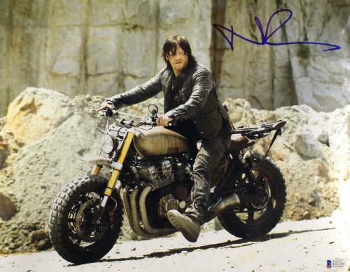 Norman Reedus Autographed/Signed Walking Dead 11x14 Photo Daryl Dixon BAS 12739