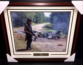 NORMAN REEDUS DARYL Autographed THE Walking Dead 16x20 Photo Framed Steiner