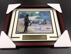 NORMAN REEDUS DARYL Autographed The Walking Dead 8X10 Photo Framed Steiner Coa