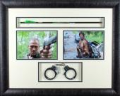 """Norman Reedus """"Daryl Dixon"""" Michael Rooker """"Merle Dixon"""" Autographed/Signed Bone Collector Crossbow Arrow and Handcuffs The Walking Dead"""